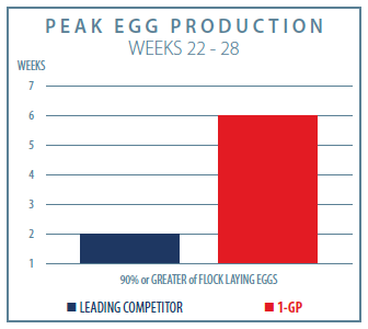 1-GP Poultry Small Flock Peak Egg Production Graph