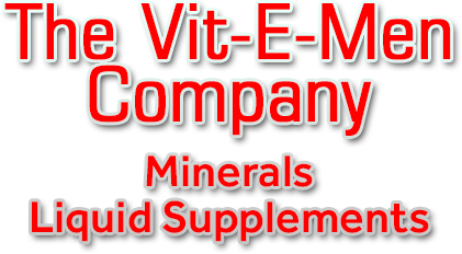 Vit-E-Men Company Text Graphic