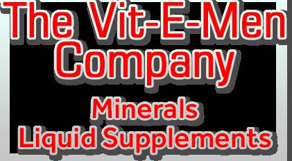 Vit-E-Men Company Text Graphic